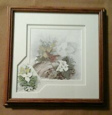 SIGNED/NUMBERED 98/450 FRAMED BIRD/NEST PRINT BY THERESA POLITOWICZ-HEIRES
