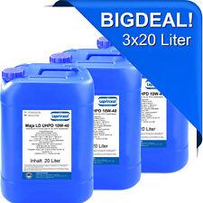 3x20l LMLD 10W40 Motoröl für LKW und Busse mit DAF Standard Drain 60 Liter