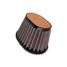 DNA Oval Light Brown Leather Top Air Filter, Inl:44mm, Len:87mm, PN:OV-4400-L-LB