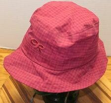 MENS RED OUTDOOR RESEARCH OR FISHING HAT SIZE MEDIUM CHIN CINCH VERY GOOD COND