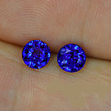 1.28cts Outstanding! 5mm Natural Round Blue Sapphire Srilanka Loose Gemstone