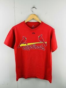 Majestic MLB Adult Vintage Crew T Shirt Size S Red St Louis Cardinals #54 Garcia