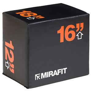 """Mirafit 3in1 Soft Foam Plyo/Plyometric Jump Squat Box Gym Step Block 18x16x12"""""""