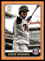 2020 Big League Base Orange #142 Eddie Rosario - Minnesota Twins