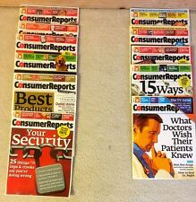 CONSUMER REPORTS-- THE YEAR 2011 - ELEVEN (11) ISSUES - EXCELLENT CONDITION