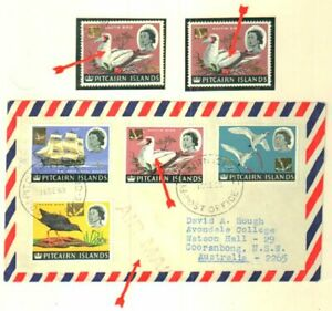 • ELUSIVE PITCAIRN 1967 SET ON 4 LAST DAY COVERS SUPERB
