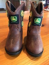JD1233 John Deer Infant Baby Cowboy Cowgirl Boots Size 4M New w/o tags