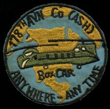 US Army 178th Aviation Company ASH Box Car Assault Helicopter Patch RP-1
