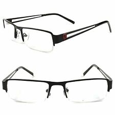 Designer Stylish Rectangle Smart Nerd Black Prescription Rx Eye Glasses Frames