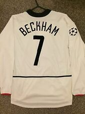 MANCHESTER UNITED 2002/03 CHAMPION LEAGUE AWAY SHIRT LS ADULTS(M) 7 BECKHAM