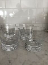 ORREFORS DUNCAN DOUBLE OLD FASHIONED GLASSES - SET OF 4 - BRAND NEW IN BOX