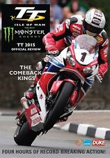 Isle of Man TT - Official Review 2015 (New DVD) McGuinness Anstey Hutchinson