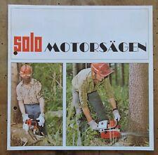 orig. Prospekt Solo Motorsäge Programm 1974 12Seiten