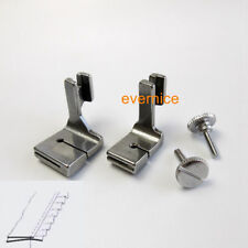 Wide & Regular Tape Edge Shirring Foot For High Shank Industrial Sewing Machine
