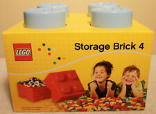 LEGO Stackable Storage Brick 4 Light Blue 2x2 ** NEW ** container