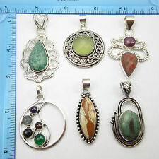 Cheap Wholesale Jewelry !! 925 Silver Overlay FREE SHIPPING Pendants, 6 Pieces