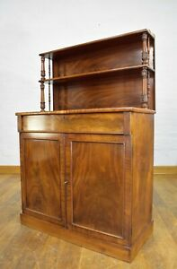 Antique carved Mahogany chiffonier cabinet - sideboard - side cupboard