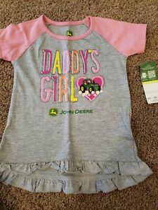 Toddler Girl John Deere Shirt 24 Months, 2t Girls Tractor Shirt, Daddy's Girl