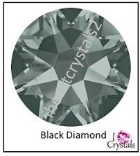 BLACK DIAMOND 12 pieces Swarovski 34ss 7mm Crystal Flatback Rhinestones 2088