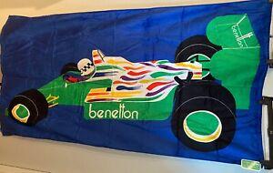 BENETTON  VINTAGE FORMULA 1 RACING CAR BEACH TOWEL - FREE WORLD WIDE SHIPPING