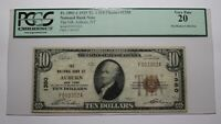 $10 1929 Auburn New York NY National Currency Bank Note Bill! Ch #1350 VF20 PCGS