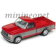 JOHNNY LIGHTNING JLCG009 24B 1993 FORD F-150 PICK UP TRUCK 1/64 SILVER / RED