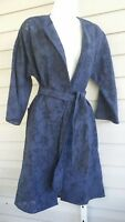 Peck & Peck Weekend Trench Coat Light Belt Jacket 3/4 Sleeves Belted Navy NWT$98