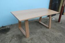 Locally made solid tassie oak hardwood timber Taronga dining table 1800w