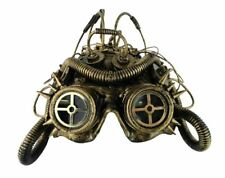Steampunk Science Fiction Cosplay Maske Helm Kopfbedeckung Kostüm goldfarben