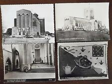 Guildford Cathedral, Real Photograph Unposted Postcards x 6, & 2 Posted, by Frit