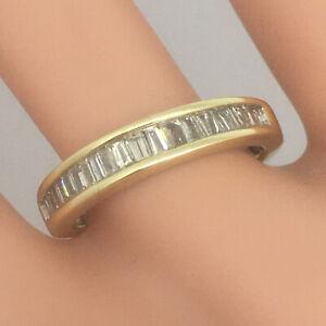0.50ct Diamond & 10ct Gold 4.4mm Eternity Ring Size N 3.2g Uk hallmark RRP:£995