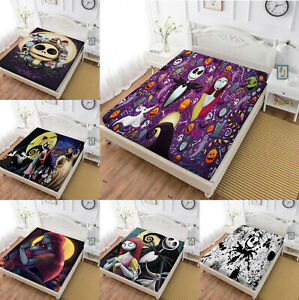The Nightmare Before Christmas Fitted Sheet Set 3PCS Mattress Cover Pillowcases