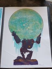 The Iron Giant Atlas Mondo Poster Print by Kevin Tong - Rare 2009