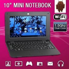 "New 10"" 1.5Ghz WIFI Android 4.4 Black Mini Notebook Laptop Computer Netbook PC"