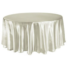 305cm Round Satin Tablecloth Overlay Wedding Party Bouquet Table Cover Decor