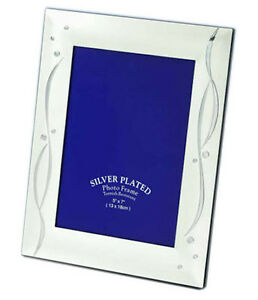 """Elegance Two Tone Silver Photo Picture Frame 4x6"""", 5x7"""", 6x8"""" & 8x10"""""""