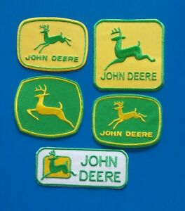 5 Lot JOHN DEERE TRACTOR  Embroidered Sew/Iron On  Patches W/ FREE SHIPPING
