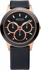 Bering Herrenuhr Uhr Keramik Leder Rosé Multifunktion 33840-446