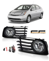 2006-2009 Toyota Prius Fog Lights Clear Lens Front Bumper Lamps Complete Kit
