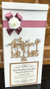 Vintage Wedding Post Box, Wedding Keepsake Box, Personalised Wedding Post Box