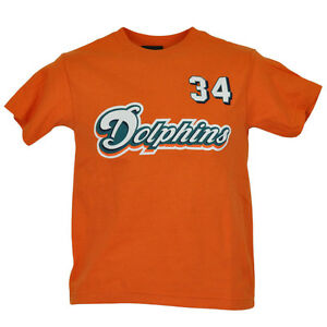 NFL Reebok Miami Dolphins Ricky Williams 34 Youth Kids Tshirt Shirt Licensed Tee