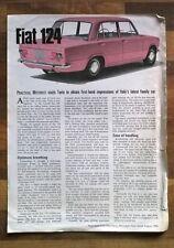 FIAT 124 VINTAGE 1968 pratico Automobilista recensione