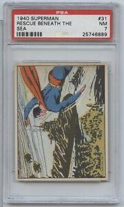 1940 Superman Gum Rescue Beneath The Sea #31 PSA 7