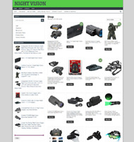 ECOMMERCE WEBSITE FOR NIGHT VISION GOGGLES - 1 YEARS HOSTING + NEW DOMAIN