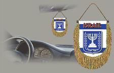 ISRAEL REAR VIEW MIRROR WORLD FLAG CAR BANNER PENNANT