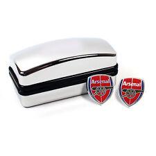 Arsenal fc artilleurs crest cufflinks boutons de manchette en noir en boîte nouveau cadeau de noël