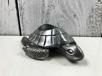 Lifelike Snapping Turtle Aluminum Animal Candleholder Home Decor 5 1/2 x 4 1/2