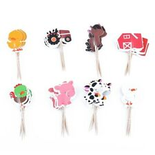 24pcs Farm Animal Cupcake Toppers Party Decorations