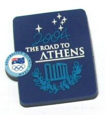 RUBBER FRIDGE MAGNET ROAD ATHENS OLYMPIC GAMES 2004 ROAD TO AUSTRALIAN TEAM #100