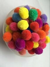 "Craft Cashmere DIY 1-1.2"" Pom Pom Ball Colored Pompoms 20pcs 11colors"